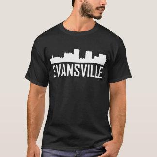 Camiseta Skyline da cidade de Evansville Indiana