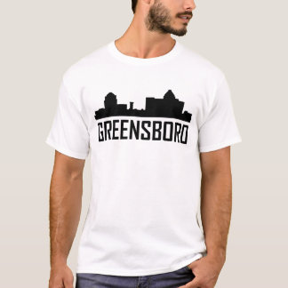 Camiseta Skyline da cidade de Greensboro North Carolina