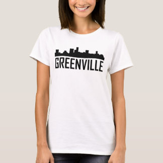 Camiseta Skyline da cidade de Greenville South Carolina