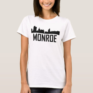 Camiseta Skyline da cidade de Monroe Louisiana
