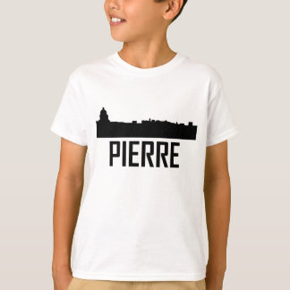 Camiseta Skyline da cidade de Pierre South Dakota