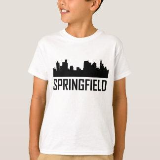 Camiseta Skyline da cidade de Springfield Illinois