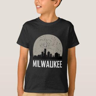Camiseta Skyline da Lua cheia de Milwaukee
