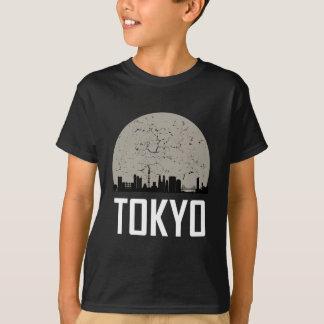 Camiseta Skyline da Lua cheia de Tokyo