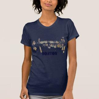 Camiseta Skyline da noite de Boston