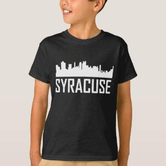 Camiseta Skyline da Nova Iorque de Siracusa