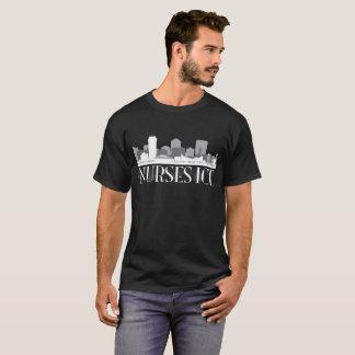 Camiseta Skyline da TIC das enfermeiras (camisa escura)