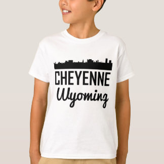Camiseta Skyline de Cheyenne Wyoming