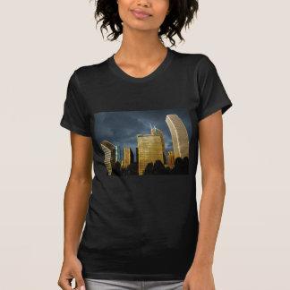 Camiseta Skyline de Chicago antes de uma tempestade