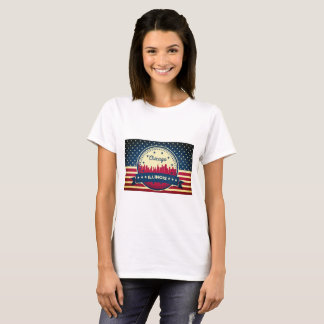 Camiseta Skyline de Chicago Illinois