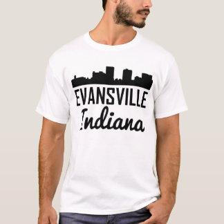 Camiseta Skyline de Evansville Indiana