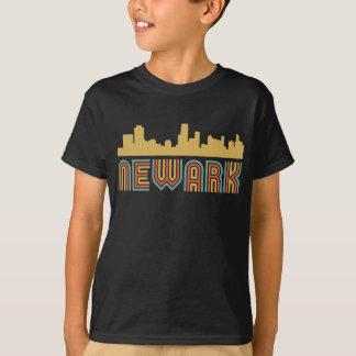 Camiseta Skyline de Newark New-jersey do estilo do vintage