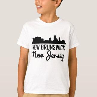 Camiseta Skyline de Novo Brunswick New-jersey