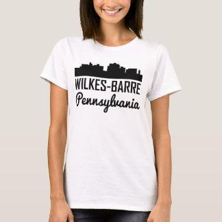 Camiseta Skyline de Pensilvânia da Wilkes-Barra
