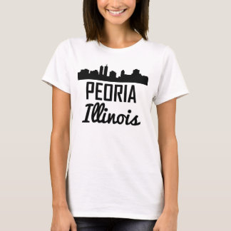 Camiseta Skyline de Peoria Illinois