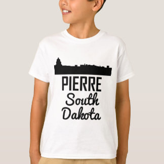 Camiseta Skyline de Pierre South Dakota