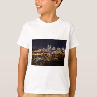 Camiseta Skyline de Pittsburgh na noite
