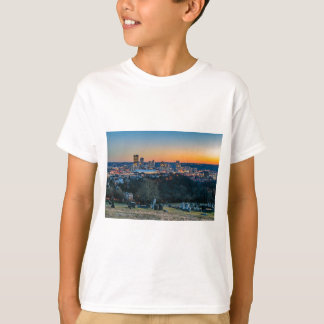 Camiseta Skyline de Pittsburgh no por do sol
