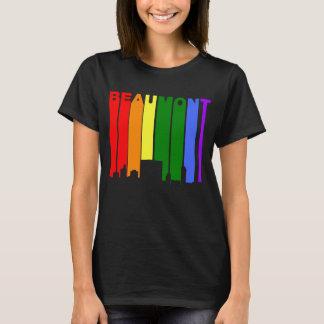 Camiseta Skyline do arco-íris do orgulho gay de Beaumont