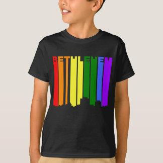 Camiseta Skyline do arco-íris do orgulho gay de Bethlehem