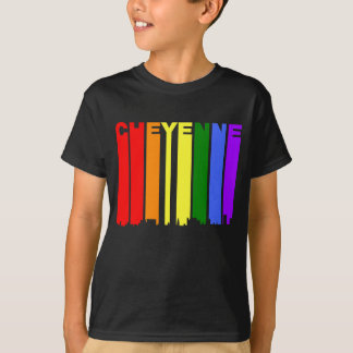 Camiseta Skyline do arco-íris do orgulho gay de Cheyenne