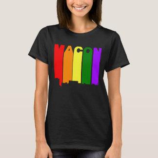 Camiseta Skyline do arco-íris do orgulho gay de Macon
