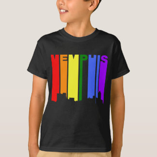 Camiseta Skyline do arco-íris do orgulho gay de Memphis