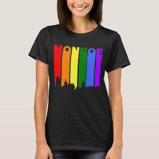 Camiseta Skyline do arco-íris do orgulho gay de Monroe