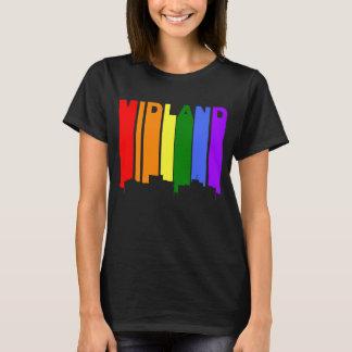 Camiseta Skyline do arco-íris do orgulho gay de Texas do