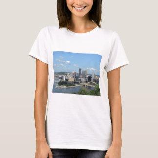 Camiseta Skyline do centro aérea de Pittsburgh
