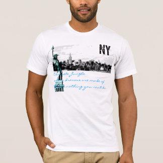 Camiseta skyline do nyc, estátua da liberdade, selva