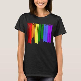 Camiseta Skyline do orgulho gay de Virginia Beach Virgínia