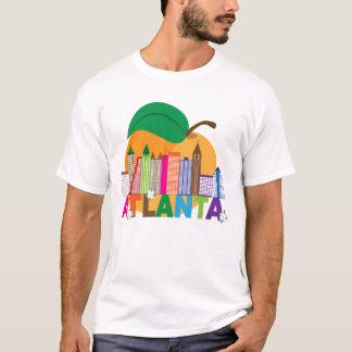 Camiseta Skyline do pêssego de Atlanta, Geórgia |