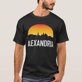 Camiseta Skyline do por do sol de Alexandria Virgínia