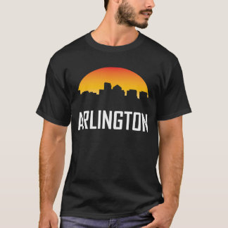 Camiseta Skyline do por do sol de Arlington Virgínia