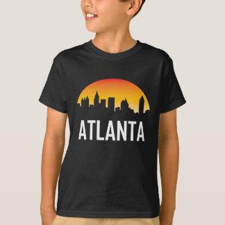 Camiseta Skyline do por do sol de Atlanta Geórgia