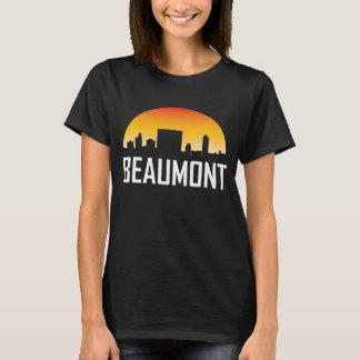 Camiseta Skyline do por do sol de Beaumont Texas