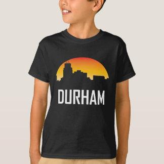 Camiseta Skyline do por do sol de Durham North Carolina