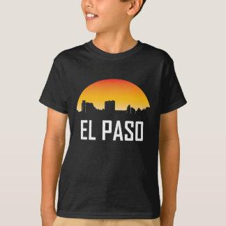 Camiseta Skyline do por do sol de El Paso Texas