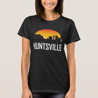 Camiseta Skyline do por do sol de Huntsville Alabama