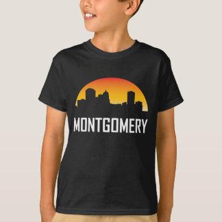 Camiseta Skyline do por do sol de Montgomery Alabama