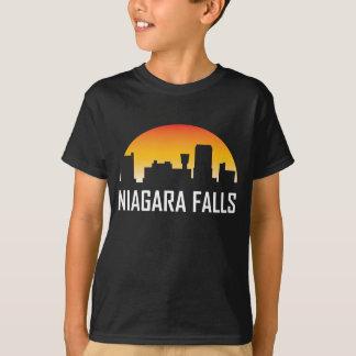 Camiseta Skyline do por do sol de Niagara Falls New York