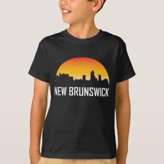 Camiseta Skyline do por do sol de Novo Brunswick New-jersey