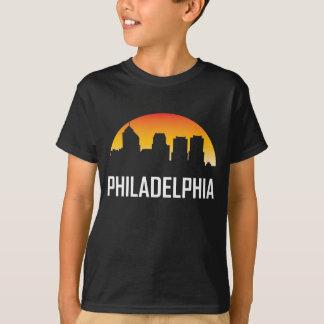 Camiseta Skyline do por do sol de Philadelphfia Pensilvânia