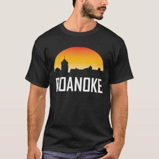 Camiseta Skyline do por do sol de Roanoke Virgínia