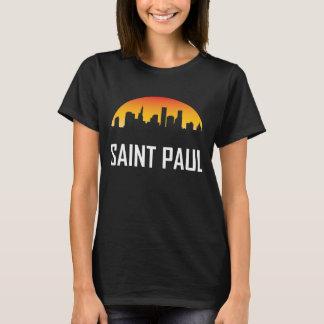 Camiseta Skyline do por do sol de Saint Paul Minnesota