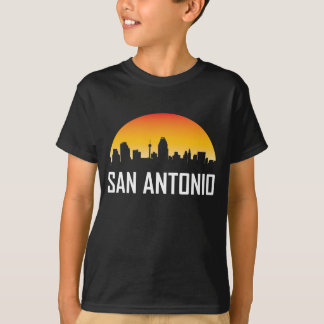 Camiseta Skyline do por do sol de San Antonio Texas