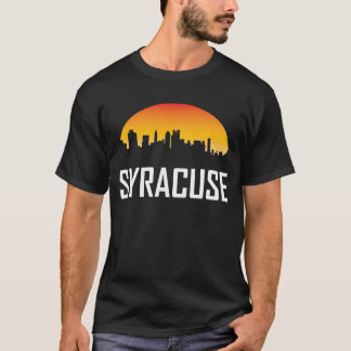 Camiseta Skyline do por do sol de Siracusa New York