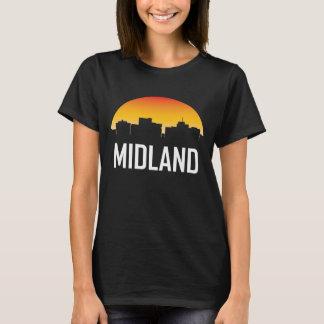 Camiseta Skyline do por do sol de Texas do Midland