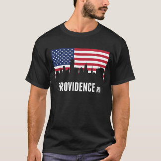 Camiseta Skyline do providência da bandeira americana